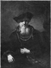 Portrait of a rabbi by Rembrandt Harmenszoon van Rijn