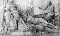 Nude Woman Asleep with Cupid and Satyrs by Andrea Mantegna