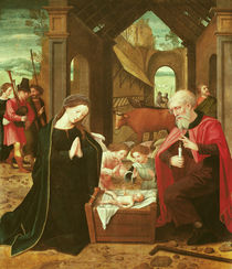 The Nativity by Master of the Female Half Lengths