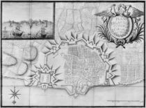 Plan of the town and the citadel of Saint-Martin-de-Re by French School