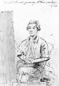 Mr Stewart painting Mr West's portrait von Benjamin West