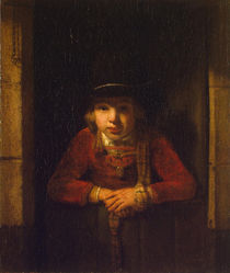 Boy Looking through the Window by Samuel van Hoogstraten