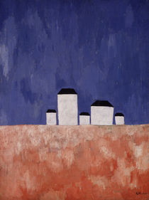 Landscape with Five Houses by Kazimir Severinovich Malevich