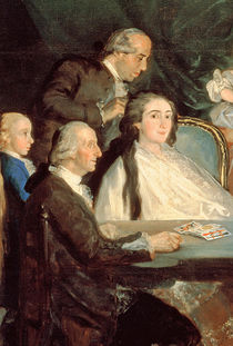 The Family of the Infante Don Luis de Borbon by Francisco Jose de Goya y Lucientes