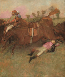 Scene from the Steeplechase: The Fallen Jockey by Edgar Degas