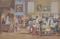 Interior of a London Coffee House by English School