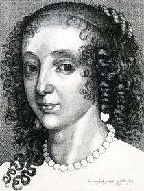 Queen Henrietta Maria, 1641 by Wenceslaus Hollar