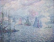 The Port of Rotterdam, or The Fumes by Paul Signac