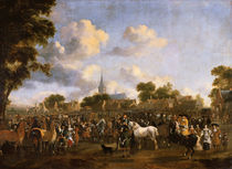 Horse Fair in Valkenburg, 1675 by Pieter Wouwermans or Wouwerman