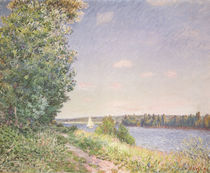 Normandy, the water path in the evening by Alfred Sisley