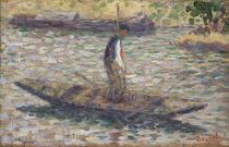 A Fisherman, c.1884 by Georges Pierre Seurat