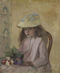 Portrait of the Artist's Daughter von Camille Pissarro