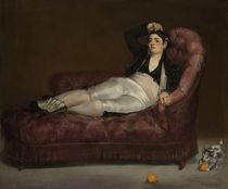 Reclining Young Woman in Spanish Costume by Edouard Manet