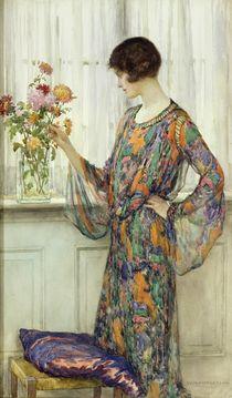 Arranging Flowers von William Henry Margetson