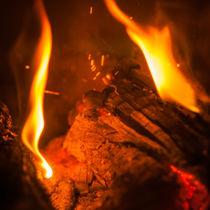 Fire with sparks von vasa-photography