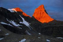 Sunrise on Talon Peak, Canadian Rockies by Geoff Amos