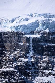 Victoria hanging glacier, Lake Louise, Alberta by Geoff Amos