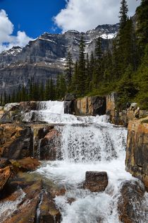 Giant's steps, Lake Louise, Canadian Rockies by Geoff Amos