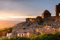 Sonnenuntergang über Volterra von Florian Westermann