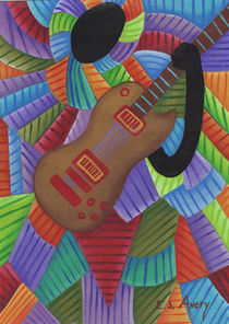 Girl With Guitar by Erika Avery