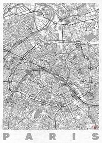 Paris Map Line by Hubert Roguski