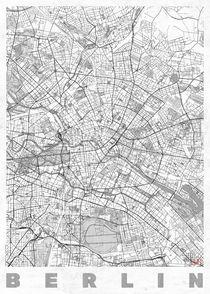 Berlin Map Line by Hubert Roguski
