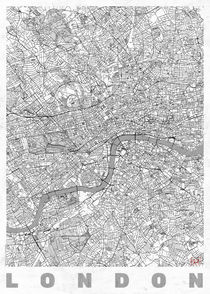 London Map Line by Hubert Roguski