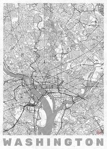 Washington Map Line von Hubert Roguski