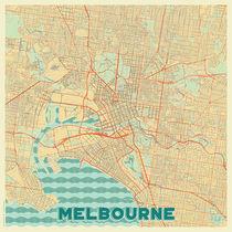 Melbourne Map Retro von Hubert Roguski