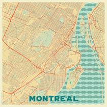 Montreal Map Retro von Hubert Roguski