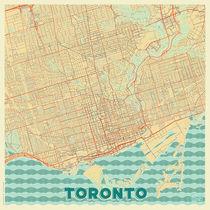 Toronto Map Retro von Hubert Roguski