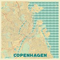 Copenhagen Map Retro von Hubert Roguski