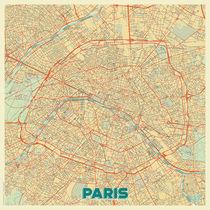 Paris Map Retro von Hubert Roguski