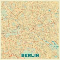 Berlin Map Retro von Hubert Roguski