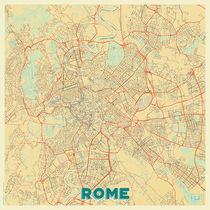 Rome Map Retro von Hubert Roguski