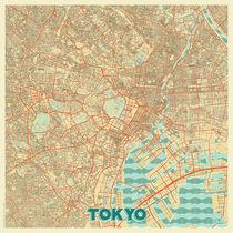 Tokyo Map Retro von Hubert Roguski