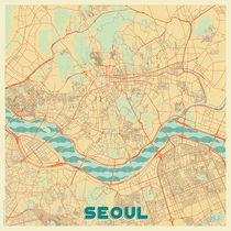 Seoul Map Retro von Hubert Roguski