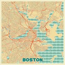 Boston Map Retro von Hubert Roguski