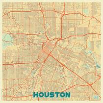 Houston Map Retro von Hubert Roguski