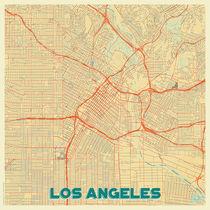 Los Angeles Map Retro von Hubert Roguski