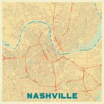 Nashville Map Retro von Hubert Roguski