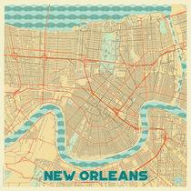 New Orleans Map Retro von Hubert Roguski