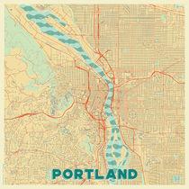 Portland Map Retro von Hubert Roguski
