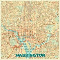 Washington Map Retro von Hubert Roguski