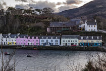 The row of coloured houses on the quay at Portree Harbour, Isle of Skye by Bruce Parker