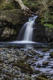 Waterfall on the River Chracaig, at Scorrybreac, Portree, Isle of Skye by Bruce Parker