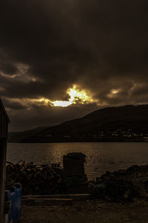 Winter afternoon sun across Loch Portree, looking toward Viewfield Road by Bruce Parker