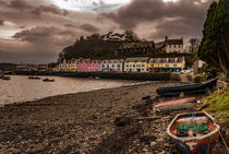 Row of coloured houses along the quay at Portree Harbour, Isle of Skye, Scotland by Bruce Parker