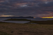 Sunset from Trumpan, on the Waternish Peninsula, Isle of Skye, looking towards the Western Isles von Bruce Parker