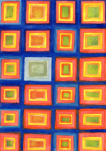 Square Pattern Beaming with Luminous Color  by Heidi  Capitaine